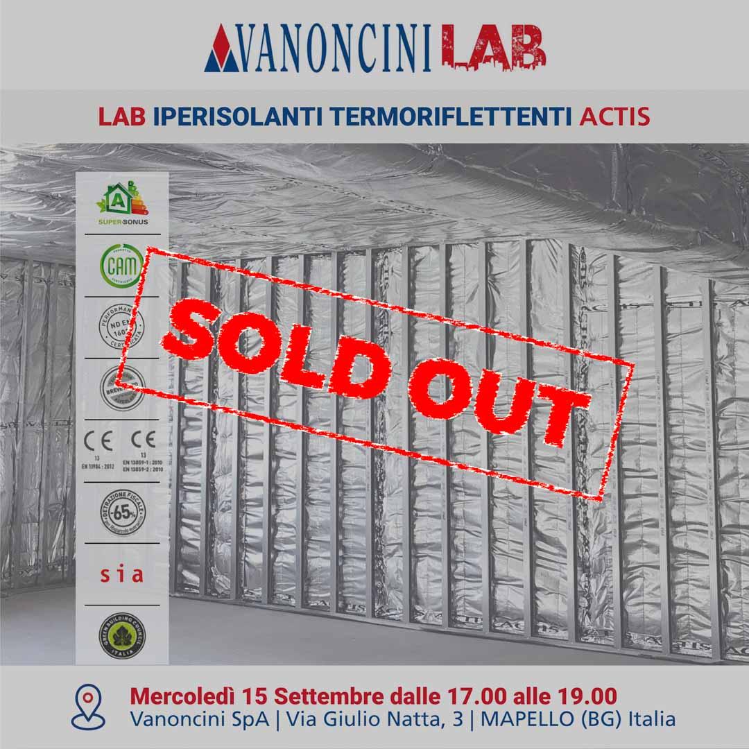 LAB IPERISOLANTI TERMORIFLETTENTI ACTIS MAPELLO (BG) - SOLD OUT!!!