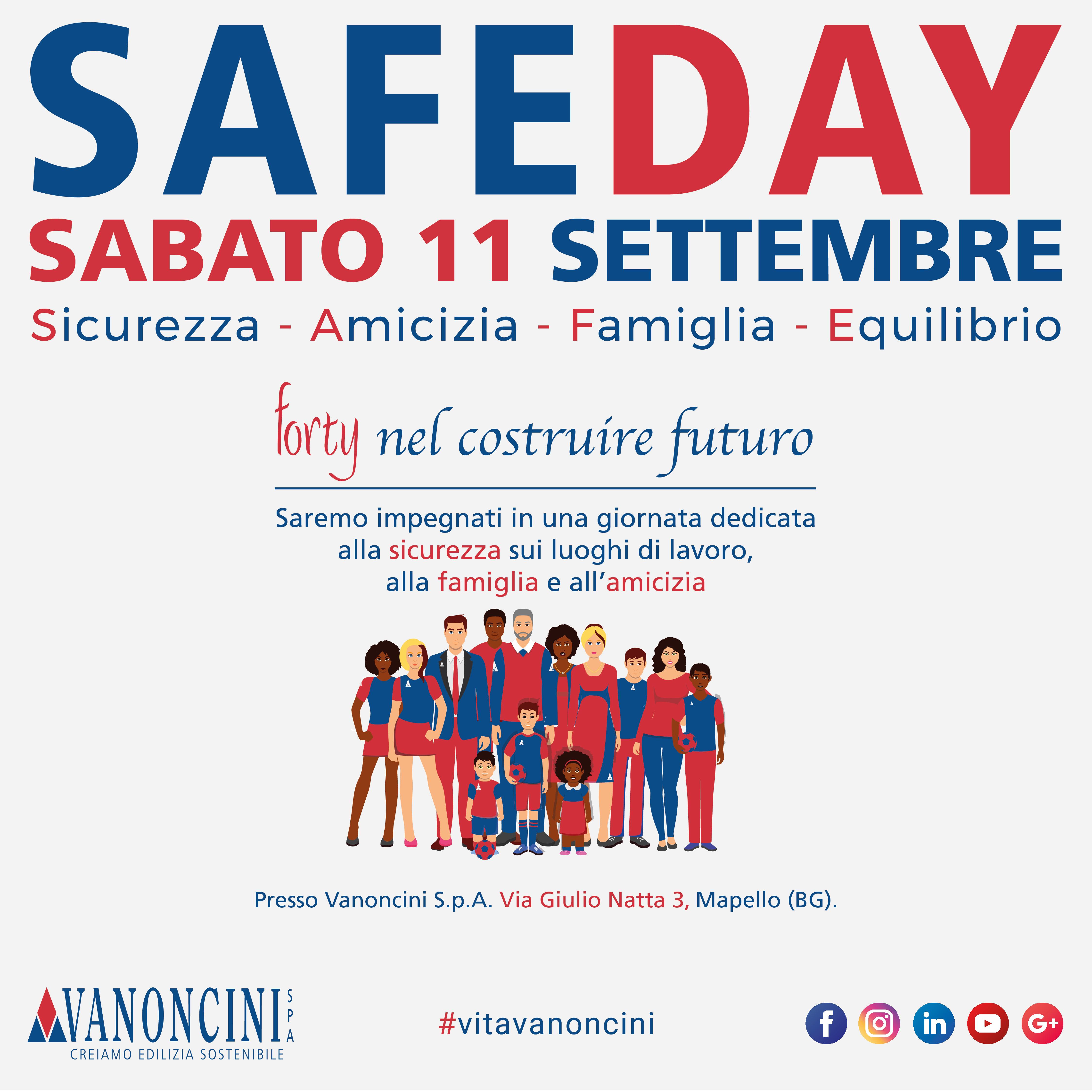 Safe Day - 11 Settembre 2021