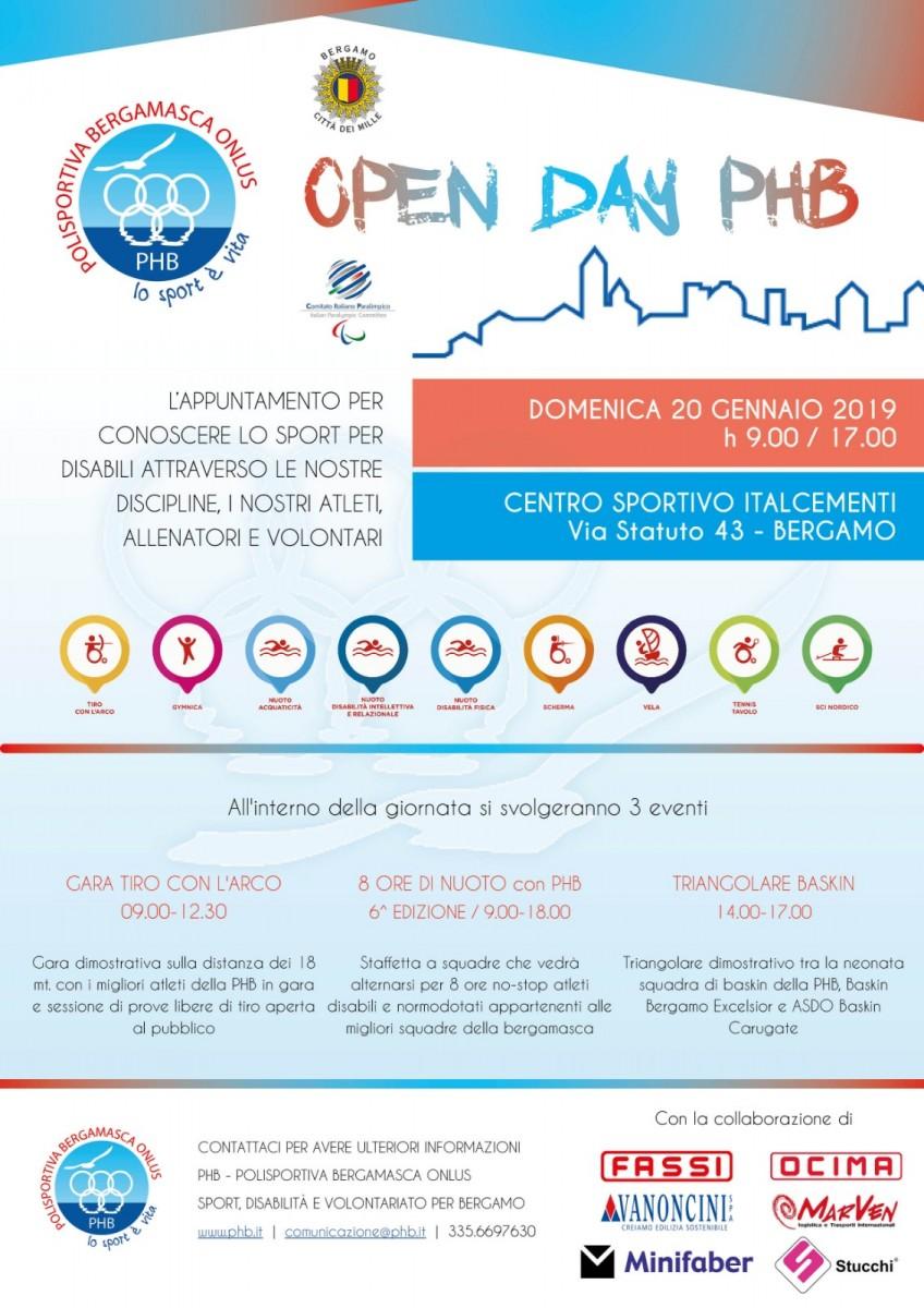 Locandina open day PHB