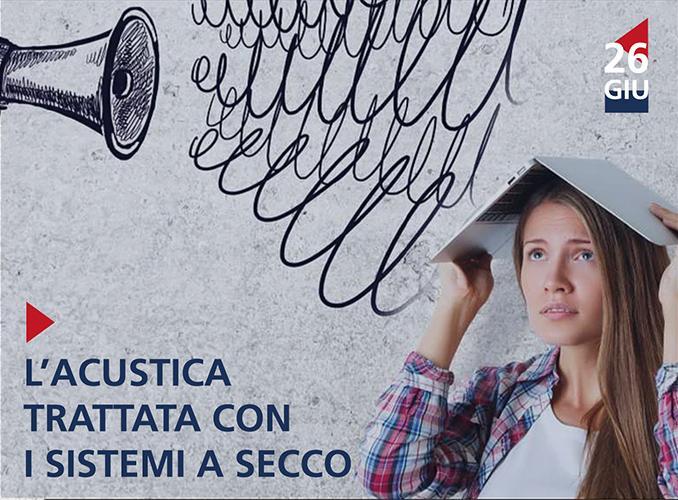 Corso: acustica trattata con i sistemi a secco