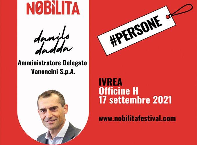 Danilo Dadda nella casa di Olivetti
